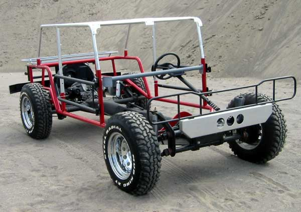 Front Angle View of Bare Wombat Frame on Chassis